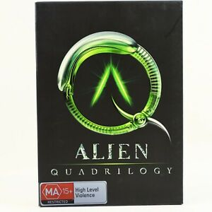 Alien Quadrilogy 1 2 3 4 Sigourney Weaver 8-Disc Box Set DVD R4 Good Condition