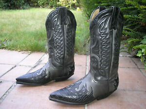 PRIME BOOTS Cowboystiefel, Westernstiefel, Gr. 37, echtes Leder, NEU