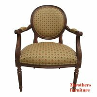 Ethan Allen Newport French Carved Lounge Chair Living Room A
