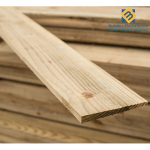 Feather Edge Boards 6x1 - Fence Panels Cladding - Treated Timber Fencing 150x11