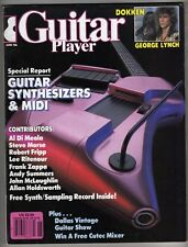 GUITAR PLAYER JUNE 86 GEORGE LYNCH MIDI SYNTHESIZERS RECORD