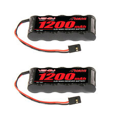 Venom 6V 1200mAh 5-Cell Flat Receiver NiMH Battery x2 Packs