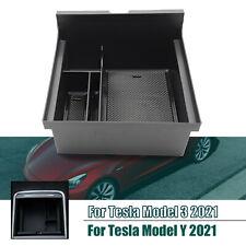 Para o modelo de Tesla 3 Modelo Y 2021 Console Central Bandeja Organizador Acessórios de estiva