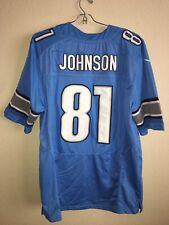calvin johnson #81 NFL Nike Jersey Blue Size 44 NWT See Desc