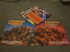 3X COUNTRY VINYL LP'S-COUNTRY GIANTS-COUNTRY SUNRISE-COUNTRY SUNSET