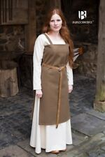 Medieval Strap Dress Overdress Viking Wool - Autumn Green From Burgschneider