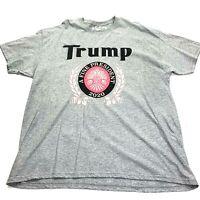 Trump A Fine President 2020 T Shirt Gray Pink XL