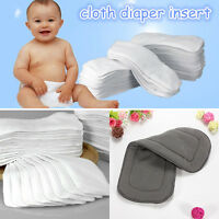 Bamboo Fiber Charcoal Washable Reusable Cloth Diaper Nappies Inserts Baby Infant