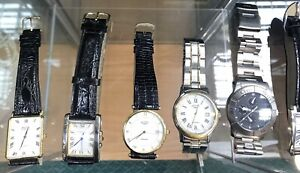7  Good Wristwatches From Clearing Retired Jewellers Stock All Perfect