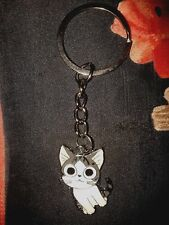 CHI THE CAT GLITTERY ANIME ENAMEL KEYRING/KEYCHAIN PENDANT CHARM - UK