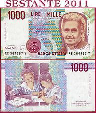 ITALIA  ITALY - 1.000 1000 Lire MONTESSORI  Lettera E 1995 -  P 114c -  FDS/UNC