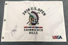 JUSTIN ROSE SIGNED 2018 US OPEN FLAG PGA TOUR GOLF AUTOGRAPH