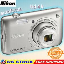 Outdoor Nikon Coolpix A300 Digital Camera 20.1MP Point & Shoot HD Camera-Silver