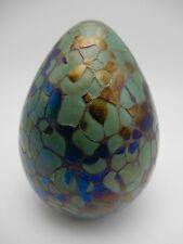 Dinosaur Egg Cloisonne Art Glass Egg Paperweight 3 3/4 Inch Tall