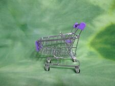 """4-1/2"""" MINIATURE PURPLE CART FOR BARBIE BABY KRISSY 2-1/2"""" AND SMALL 3"""" DOLLS"""