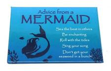 "Advice from a Mermaid Novelty, Inspirational 3 1/2"" x 2 1/2"" Kitchen Magnet"