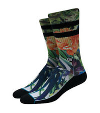 Stance Drought Floral Green Multi Color Classic Crew Socks Men's 8-12 Lg New