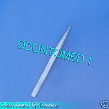 "Swiss Pointed Tip Tweezers 6"" Titanium Surgical Instruments"