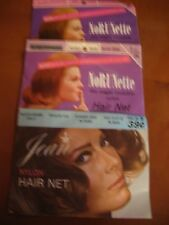 VINTAGE NYLON HAIR NETS - 3 PACKAGES NEVER OPENED