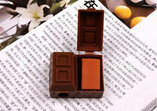 Feature Economic Creative Chocolate Pencil Sharpener Penknife Rubber Eraser