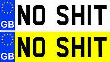 Fun Number Plate Novelty Stickers GB, JDM, Euro Sti VW 16v VXR Land Rover