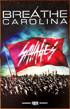 BREATHE CAROLINA Savages Ltd Ed Discontinued RARE Poster +FREE Punk Emo Poster!