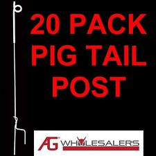 Strip Graze Pig Tail Tread in Posts X 20 Electric Fence Pigtail Steel Post