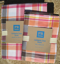 POTTERY BARN  ~ LAMBERTS COVE ~ TWIN DUVET + 1 STANDARD SHAM ~ BEDDING ~ PB TEEN