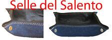 Svuotatasche Jeans + vera pelle artigianale MADE IN ITALIA casa ufficio negozio