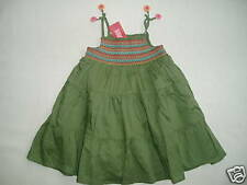 Gymboree TROPICAL GARDEN Green Smocked Batiste Dangle Flower Sun Dress NWT 12-18