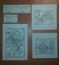 1942 US Army Maps Biskra Setif Orleansville Algeria  ww 2 vintage military