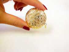 Flower of life 3D pendant (45 mm) - Stainless Steel, GOLD, Fashion & Elegant