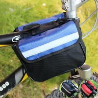 Cycling MTB Bike Bicycle Frame Pannier Front Tube Double-Saddle Bags 2-size