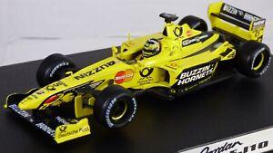 Hot Wheels 1:43 F1 Jordan EJ10 Heinz Frentzen Buzzin Hornets Racing Car Toy