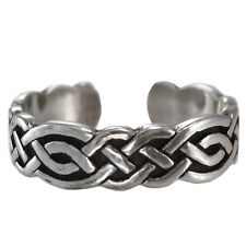Sterling Silver Body Jewelry Adjustable Size Celtic Knot 1 Toe Ring 3 Ss