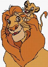- Rey León Simba & musafa 2 puntada cruzada contada Kit de personajes de Disney/Niños