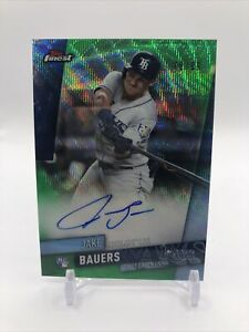 🔥 Jake Bauers 2019 Topps Finest Green PRIZM Refractor On Card Auto # /99 RC 🔥
