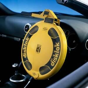 Disklok Security Large 41.5-44cm Yellow Disklok Steering Wheel Anti Theft Lock