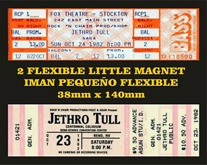 Jethro Tull VINTAGE Magnets TICKETS 2 IMANES 2 MAGNETS