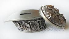 Maple Leaf Finger Guard & Knives Pommel German Silver Bolster for Custom Knife