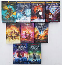 RICK RIORDAN 9 HCDJ Books KANE 1 2 3 Heroes of Olympus 1 2 4 5 MAGNUS CHASE 1 2