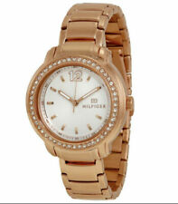 Tommy Hilfiger серебряный циферблат розовое золото-тон женские часы 1781468 $145