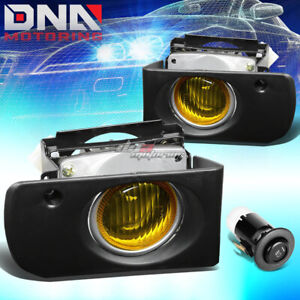 FOR 1994-1997 ACURA INTEGRA JDM DC2 FRONT DRIVING FOG LIGHT LAMPS+ SWITCH AMBER