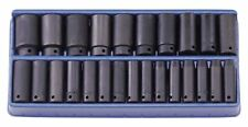 Genius 1/2in Drive 25 Piece Metric 8 - 32mm Deep Impact Socket Set TF-425MD