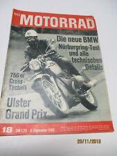Das MOTORRAD Zeitschrift Nr. 18 von 1969