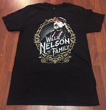 Brand New Willie Nelson & Family Live in Concert 2016 Black T-shirt Small Shirt