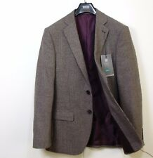M&S Gents WOOL BLEND Dogthooth Check BLAZER JACKET ~ Size 38 Med ~ BROWN Mix