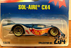 VINTAGE HOT WHEELS 1997 BLUE CARD COLLECTOR #169  SOL-AIRE CX4 - NMOC Free S&H