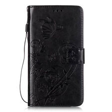 Card Holder Leather Flip Wallet Case Cover Stand Floral For Motorola NOKIA HTC