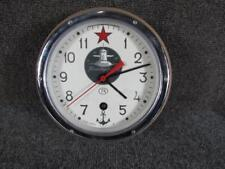 VINTAGE signed RUSSIAN MILITARY SUBMARINE CLOCK, EXCELLENT QUALITY,NICE MOVEMENT